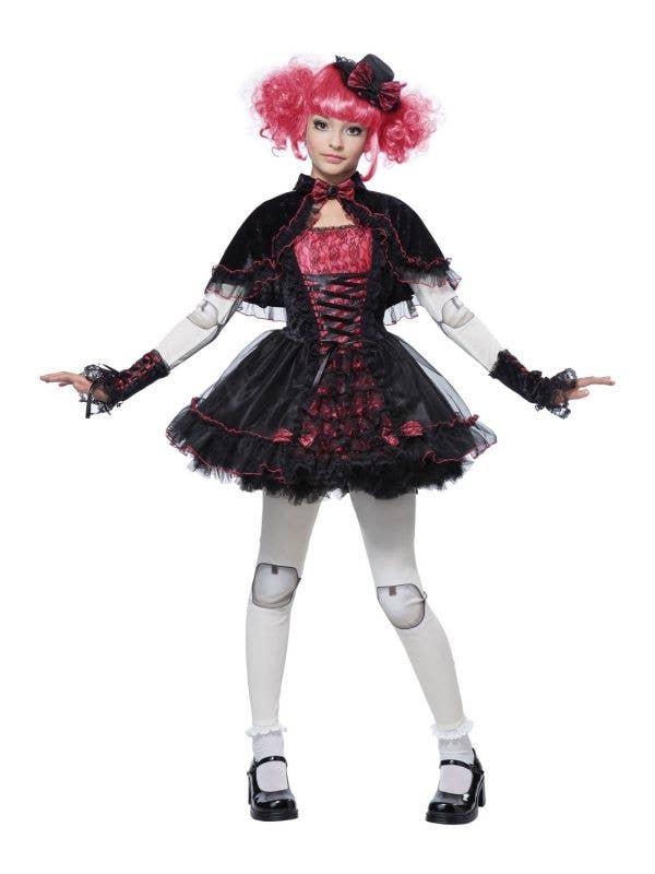Dark Victorian Doll Fancy Dress Kids Costume Main Image