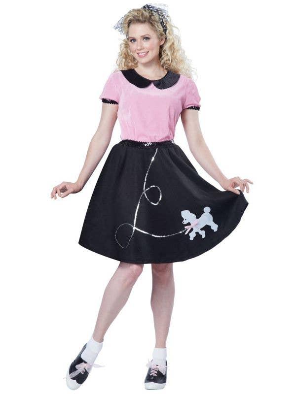 1950's Sock Hop Rock n Roll Women's Fancy Dress Costume Main Image