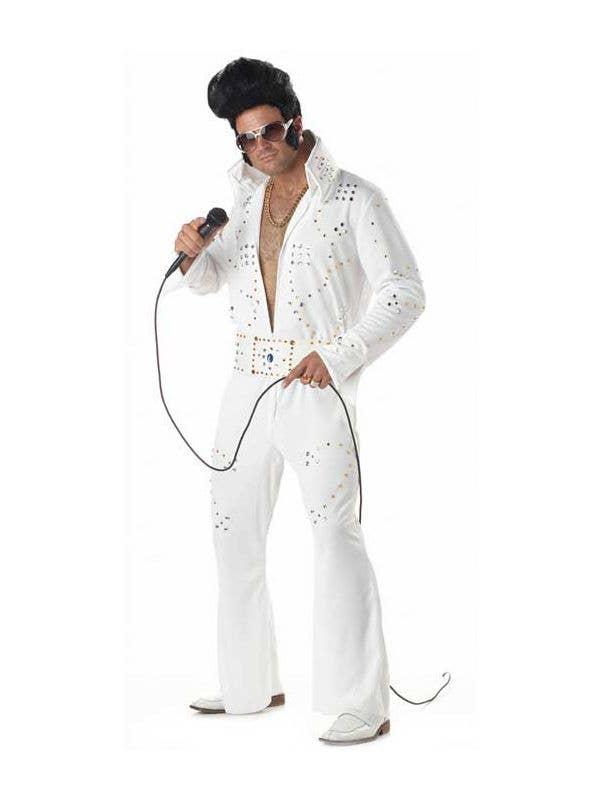 Rock Legend Men s Elvis Costume, Retro Elvis Fancy Dress Costume 55bc40e7bd8f