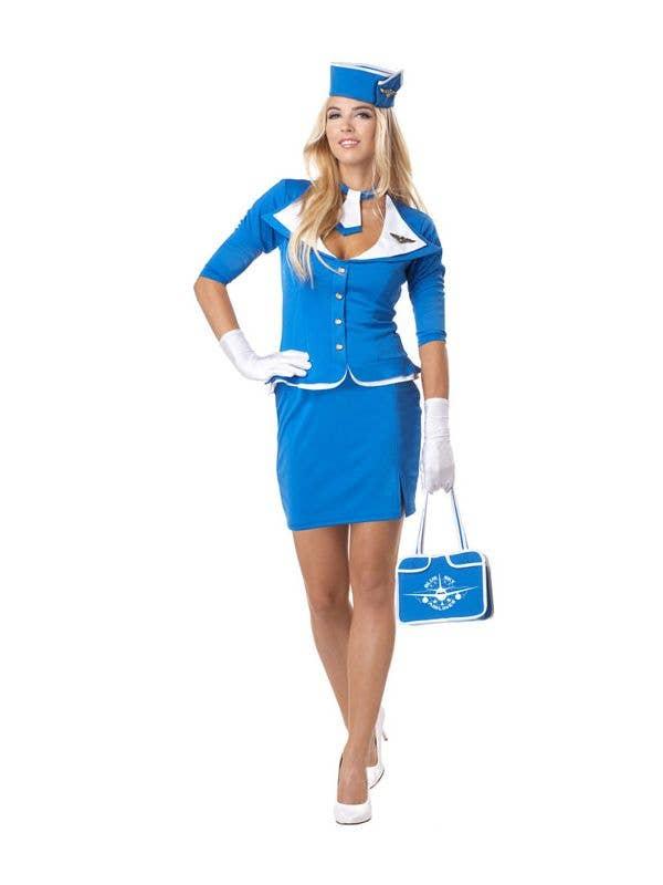 f9240cf99ab Retro Stewardess Women's Flight Attendant Costume