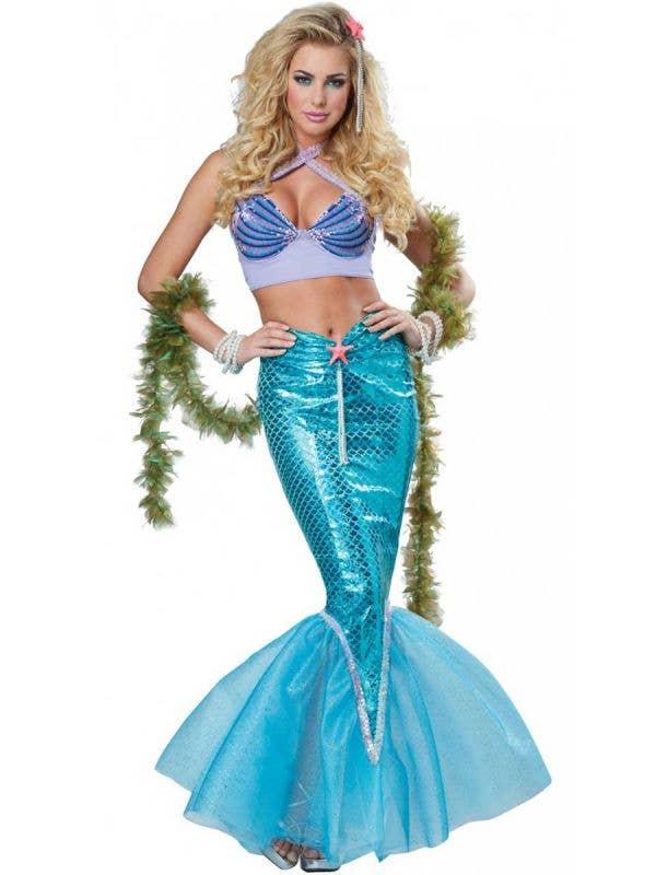 Women's Magical Deluxe Mermaid Fancy Dress Costume