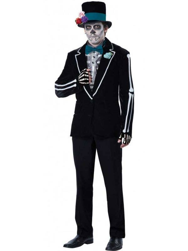 Men's Day of the Dead Mexican Groom Costume