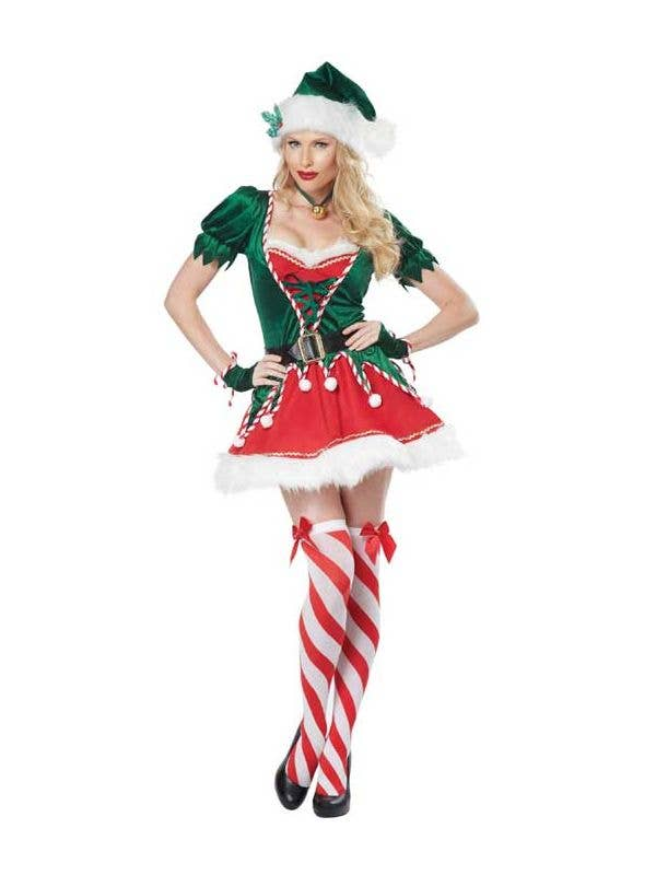 Christmas Elf Costume.Santa S Helper Sexy Women S Elf Costume
