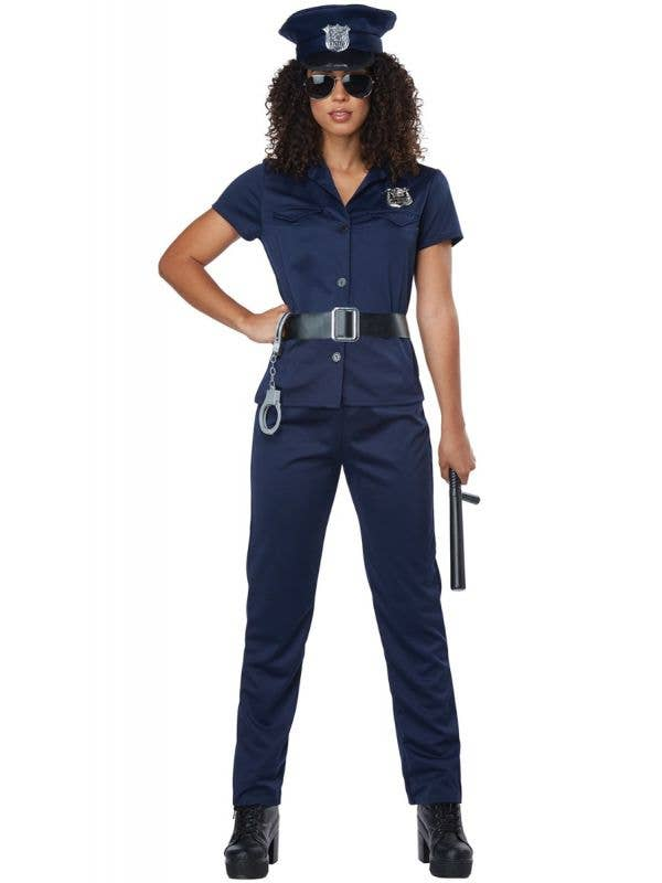 Women's Classic Police Officer Fancy Dress Costume Main Image