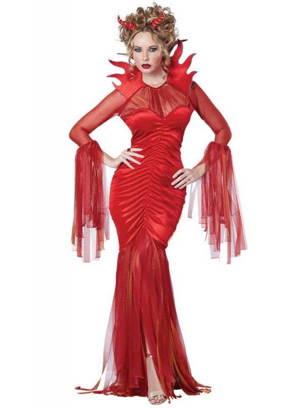 Women's Sexy Red Devilish Diva Halloween Costume Main Image