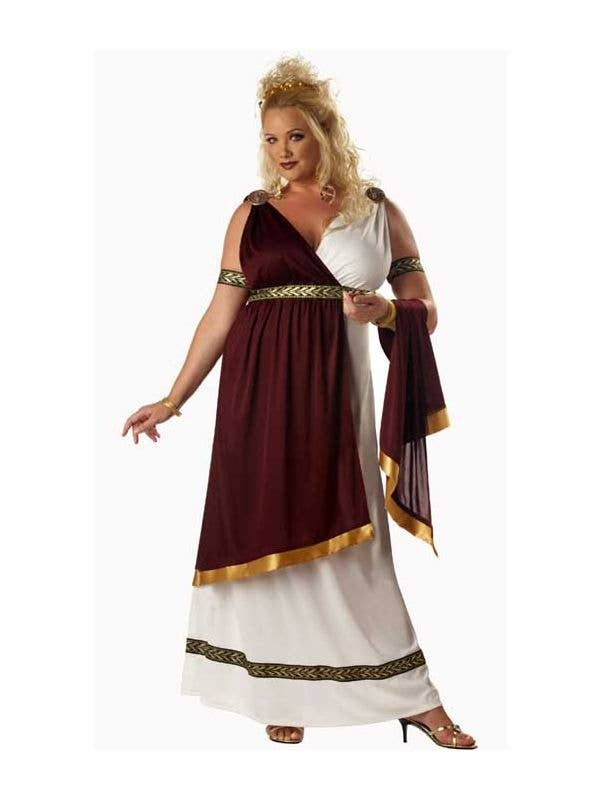 Womens Plus Size Roman Goddess Costume Plus Size Toga Fancy Dress