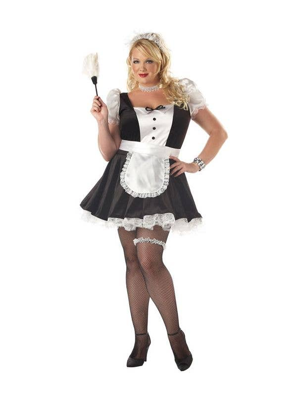 fe3821a891a Plus Size Sexy Women s French Maid Costume Front View