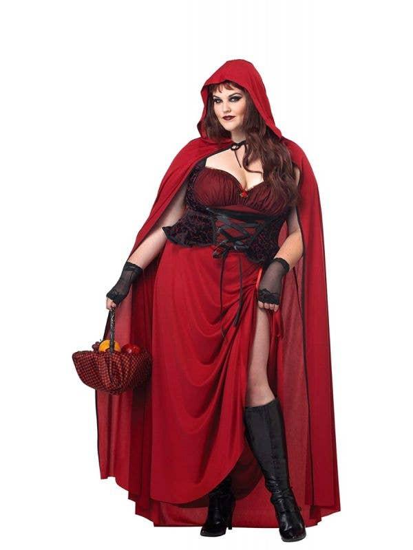 Plus Size Dark Red Riding Hood Women's Costume Main Image