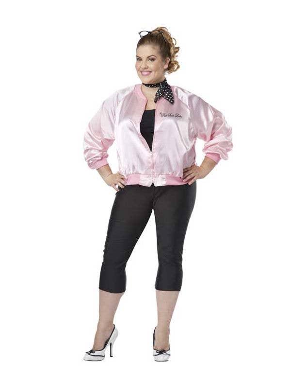 1578bd15e136a Plus Size Women s 1950 s Pink Ladies Costume Jacket Front
