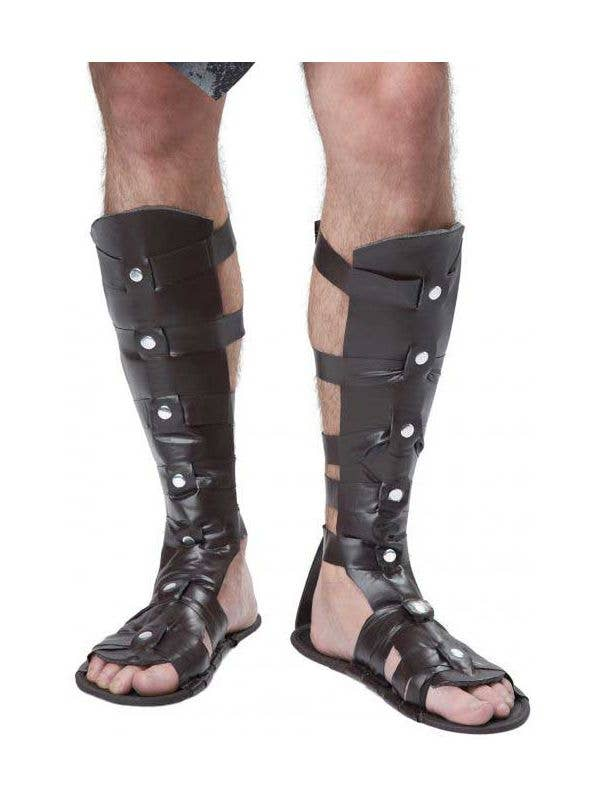 895d472f4 Brown Gladiator Men s Fancy Dress Costume Sandals