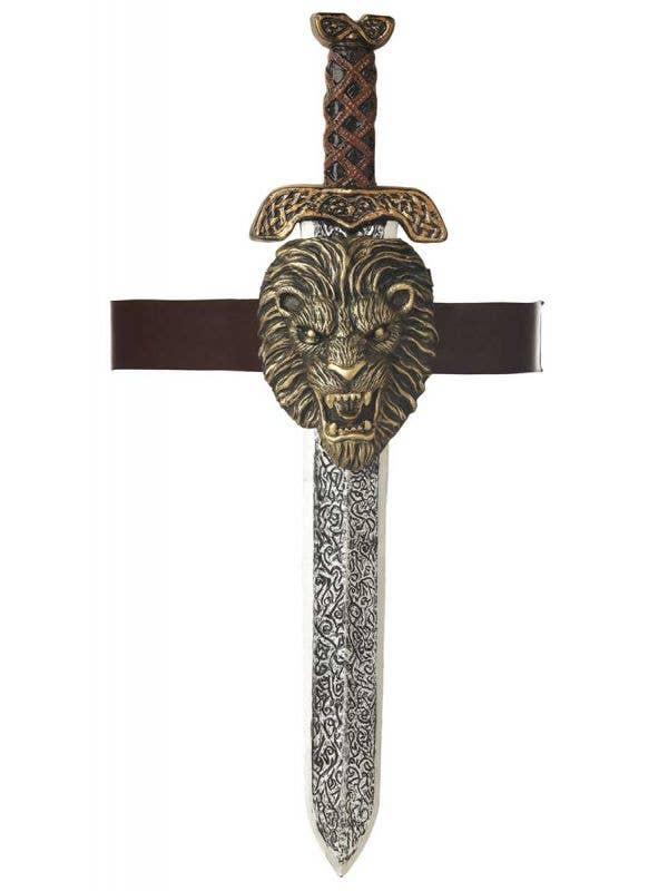 Gladiator Sword with Gold Lion Sheath Main Image