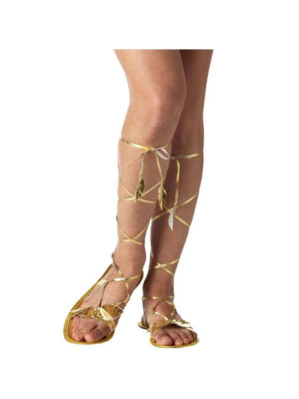 Shoes Gold Strappy SandalsRoman Goddess Costume QrdohxBsCt