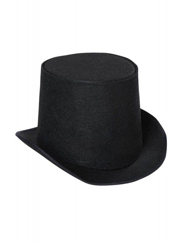 Kids Versatile Black Top Hat Fancy Dress Costume Accessory Main Image
