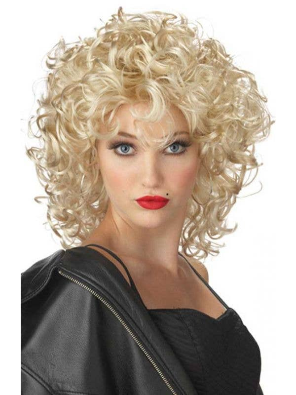 Short Curly Blonde Sandra Dee Costume Wig for Women b98fbf58c5