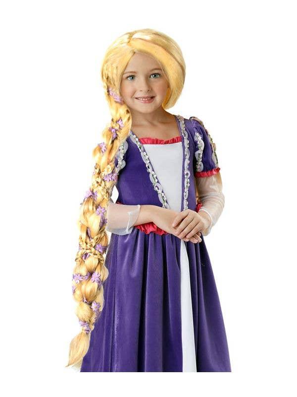 e44850fe61ced0 Kids Costume Wigs | Rapunzel Girls Braided Long Blonde Wig