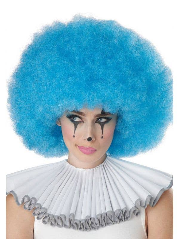 Adult's Jumbo Blue Clown Afro Costume Accessory Wig