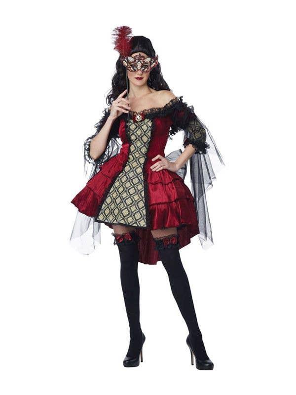 fa839799e8208 Mysterious Masquerade Women's Costume | Masquerade Sexy Costume