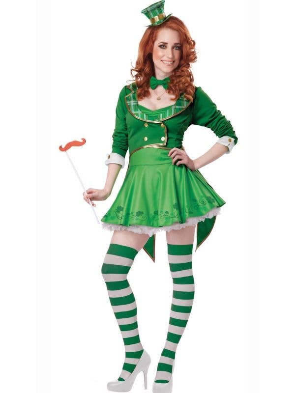 Lucky Charm Leprechaun Sexy Women's Fancy Dress Costume