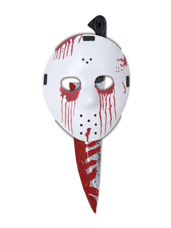 Halloween Jason Mask Cartoon.Slasher Mask And Knife Halloween Set