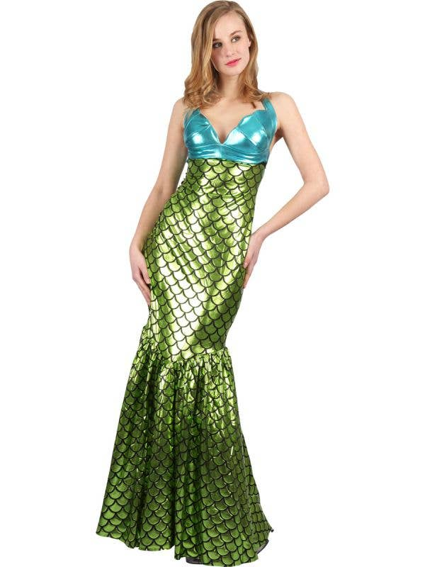 Women's Green Sexy mermaid fancy dress costume main image