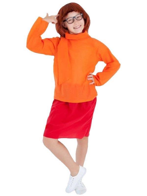 Girls Velma Fancy Dress Costume Main Image