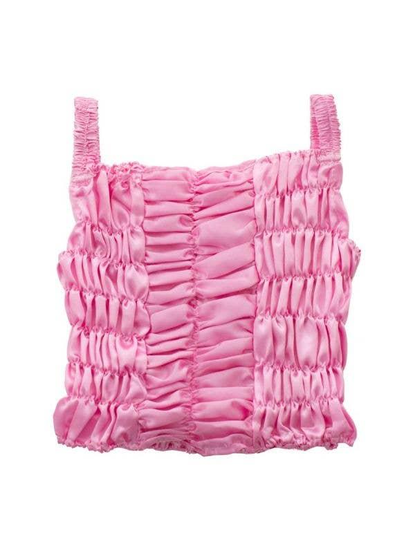 Princess Pink Girl's Shirred Satin Costume Top - MAIN