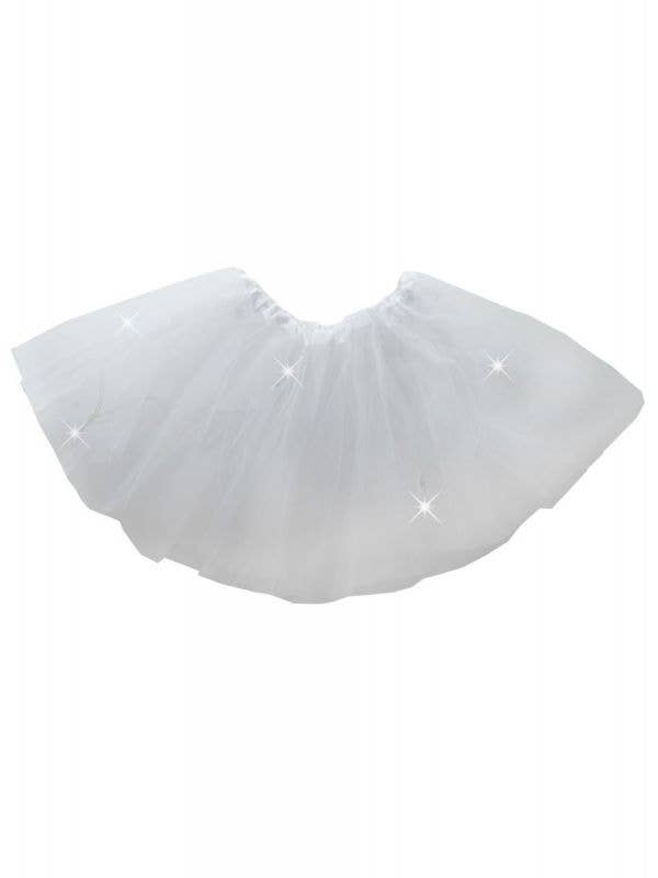 Girl's White Light up Flashing Petticoat Costume Tutu