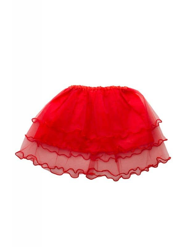 Devil Layered Mesh Girl's Red Frilled Costume Tutu Petticoat - Main