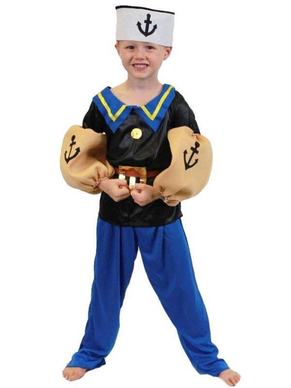 sc 1 st  Heaven Costumes & Boys Popeye Fancy Dress Costume   Cartoon Sailor Man Kids Costume
