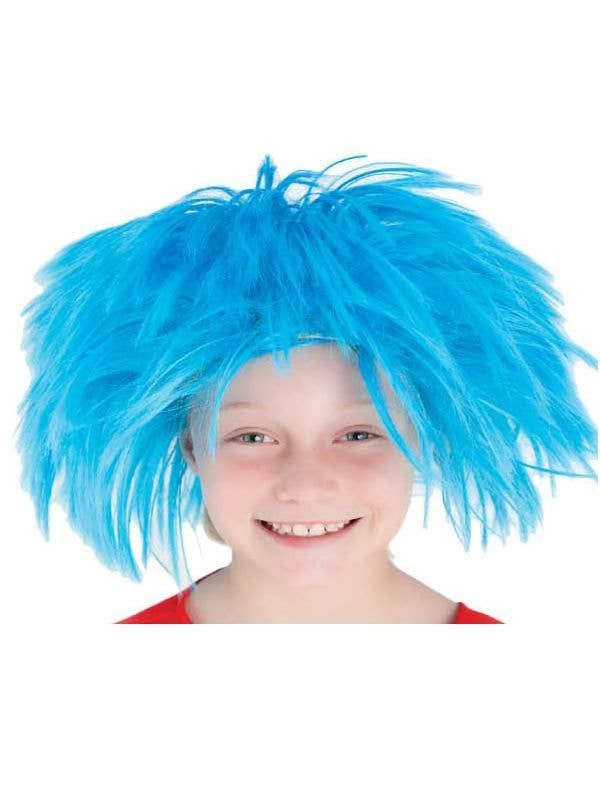Thing 1 And 2 Boys Blue Book Week Wig Main Image 2519a94c9