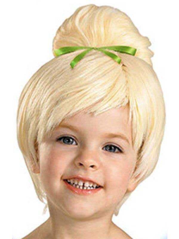 Green Fairy Girls Blonde Costume Wig Main Image