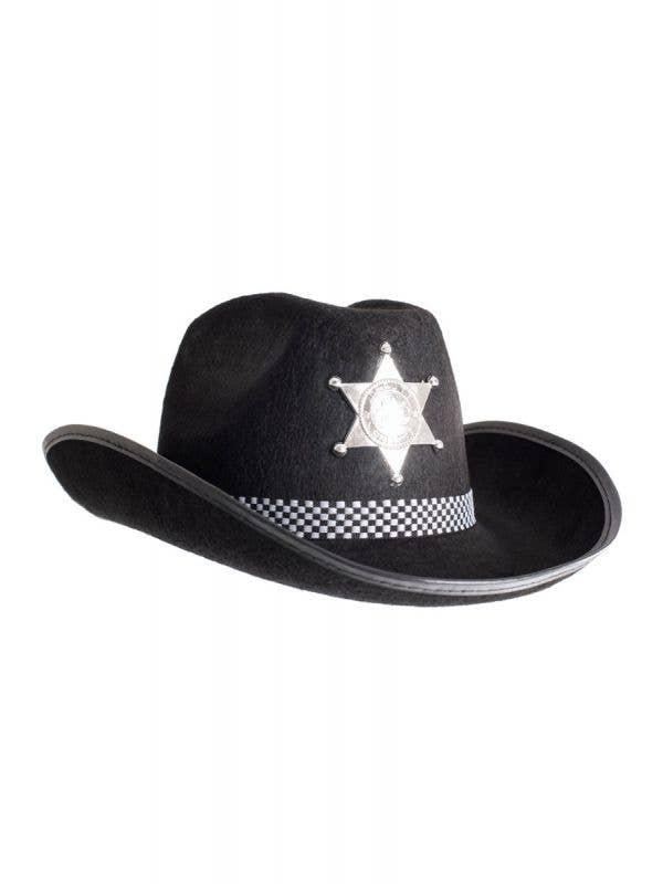 Black Deputy Sheriff Adults Cowboy Hat Main Image