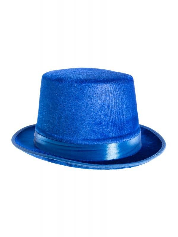 Blue Velvet Unisex Adults Mad Hatter Top Hat Costume Accessory - Main Image