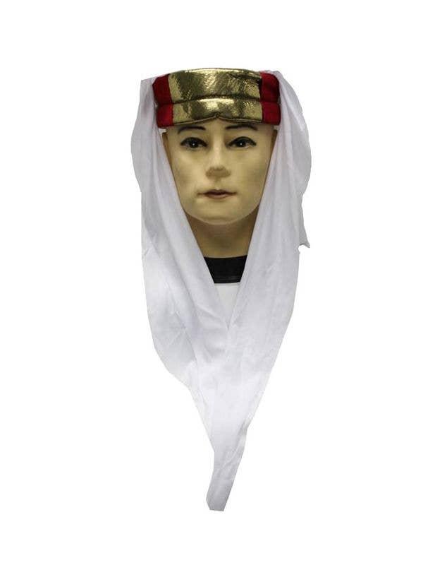 White Arab Sheik Men s Headpiece  1959e12703c7