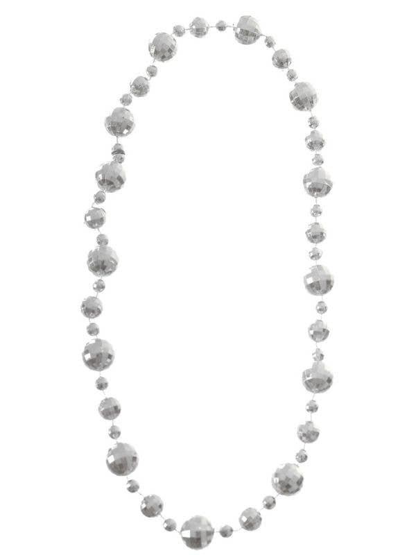 Silver Disco Ball Necklace Costume Accessory