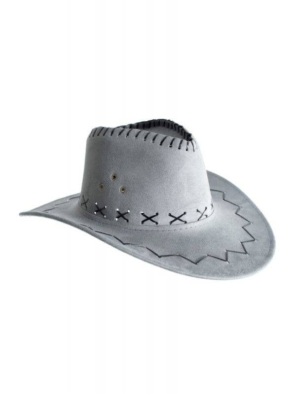 Cowboy Faux Suede Grey Unisex Costume Accessory Hat Main Image