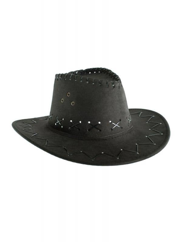 Black Kids Boys girls Cowboy Outback Costume Accessory Hat Main Image