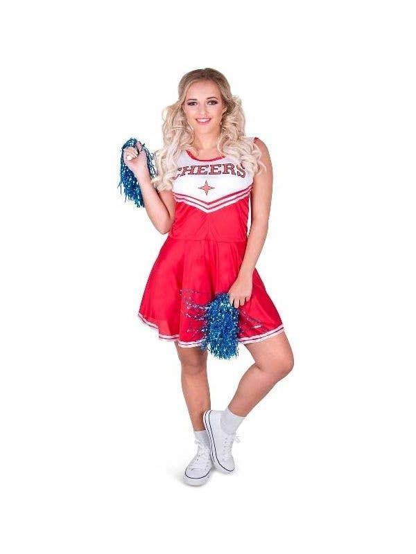Women's Classic Red Cheerleader Fancy Dress Costume