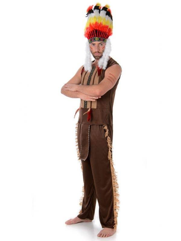 Village People Menu0027s American Indian Costume Main Image  sc 1 st  Heaven Costumes & Village People Menu0027s Indian Costume | American Indian Menu0027s Costume