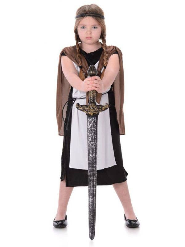 Girl's Viking Warrior Fancy Dress Costume Main Image