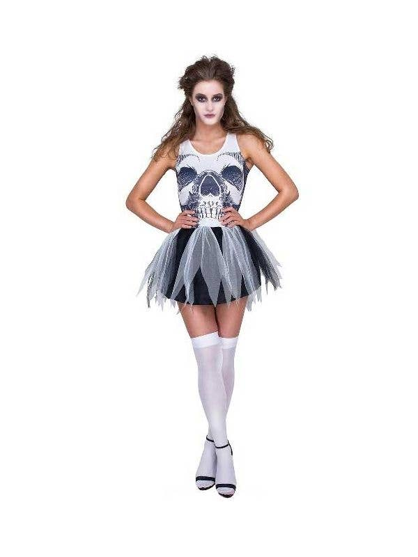 63fa3247c8 Sexy Skeleton Print Tutu Costume | Women's Skeleton Costume Dress