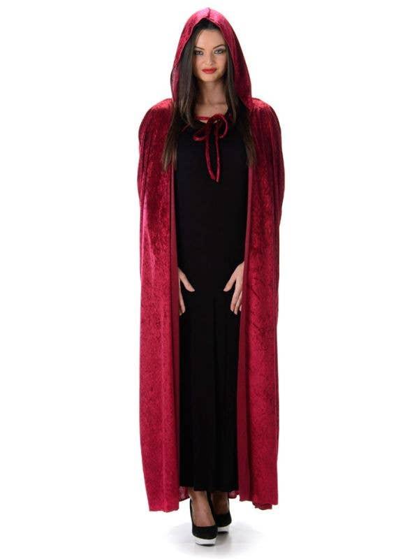 cdf14ade2 Little Red Riding Hood Costume Cape | Long Red Velvet Halloween Robe