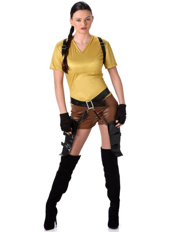 Women's Tomb Raider Lara Croft Fancy Dress Costume