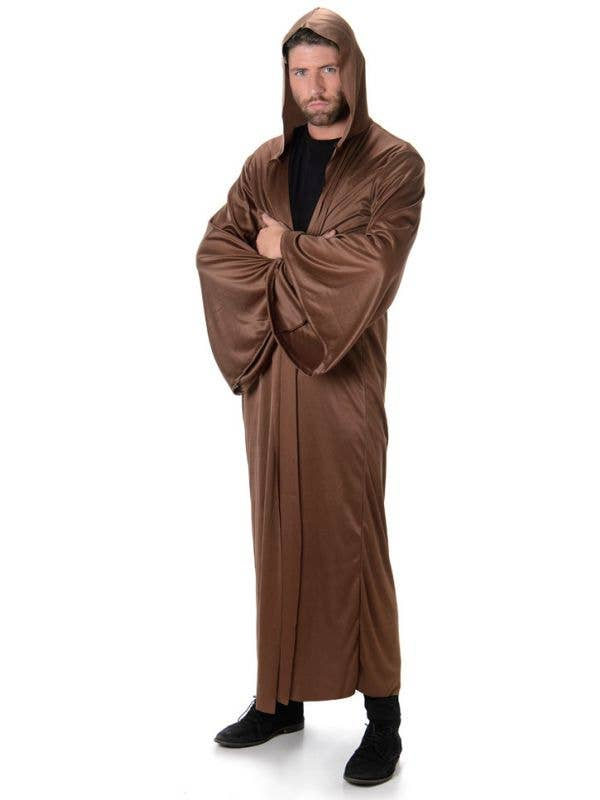 a85681a2a3 Men s Brown Hooded Fancy Dress Costume Robe Main Image