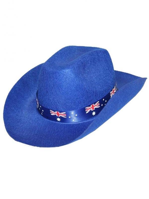 1d52b793cc5 Aussie Flag Adults Blue Cowboy Hat