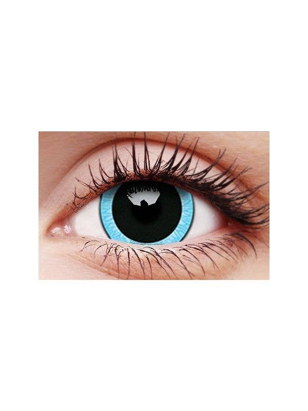 ColourVUE Nebulos Blue and Black 17mm Mini Sclera 12 Month Use Contact Lenses