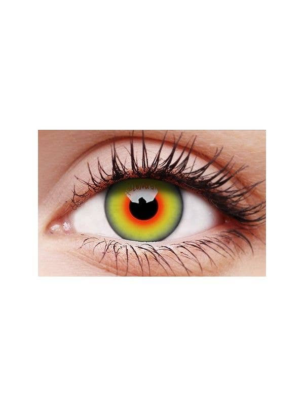 ColourVUE Mad Hatter Green Patterned 90 Day Wear Contact Lenses