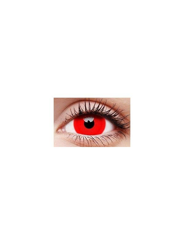 Daredevil Red Mini Sclera 12 Month Yearly Costume Contact Lenses - Main Image