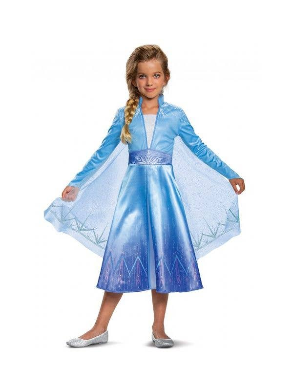 Girls Deluxe Frozen 2 Elsa Costume by Disguise Front Image