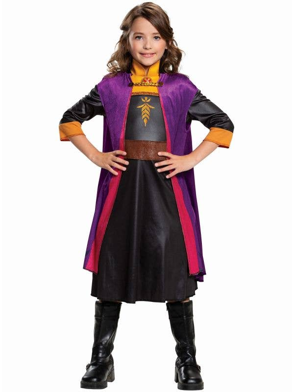 Girls Frozen 2 Anna Classic Costume by Disguise, Front Image